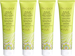 Pacifica Kale detox deep cleansing face wash, 5 Fl Oz, Pack of 4