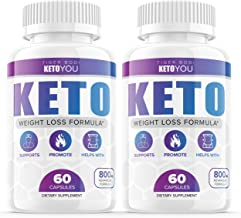(2 Pack) Keto You Diet Pills 800mg Supplement, Ketoyou Advanced Weight Formula for Women and Men, Exogenous...