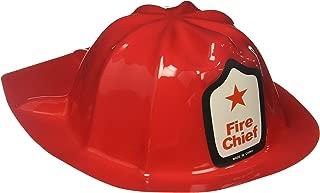 Rhode Island Novelty Plastic Firefighter Chief Hat (Set of 24)