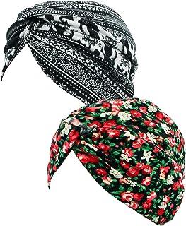 TFB.Love Women Pleated Ruffle Stretch Turban Hat Hair Wrap Cover Up Sun Cap