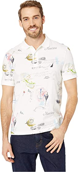 Short Sleeve Painted Map Polo