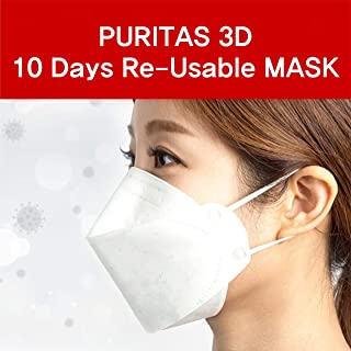 3D Double 10 Days Reusable Safety Mask_Made In Korea (One Mask)