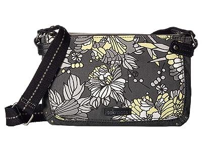 Sakroots Tarzana Triple Gusset Mini (Slate Flower Blossoms) Cross Body Handbags
