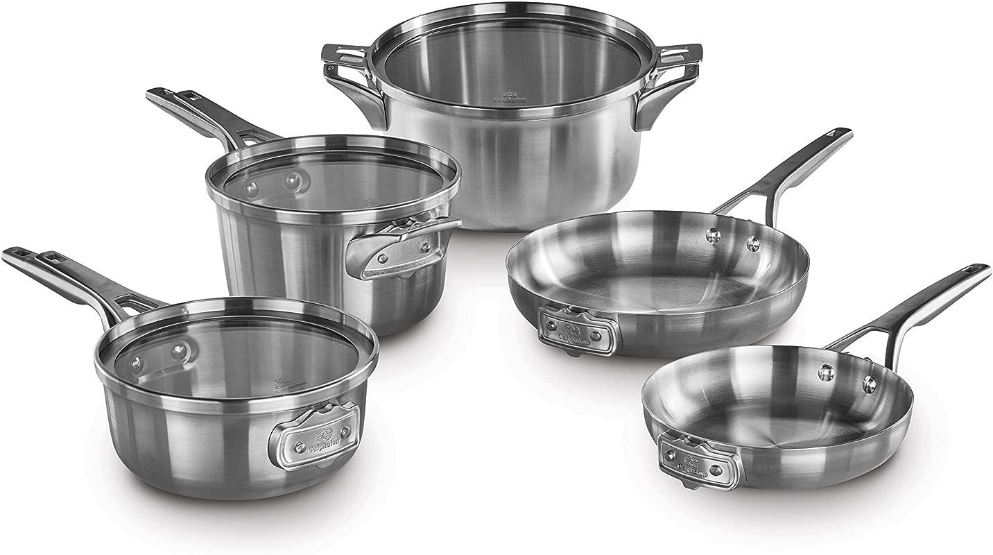 Calphalon Premier Space Saving 8 Pc Stainless Steel Cookware Set
