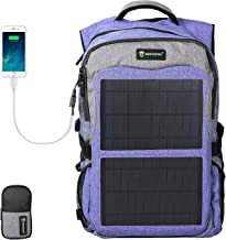 SUNKINGDOM Laptop Backpack USB Charging Port Durable Waterproof Mutiple Function Solar Backpack for Camping Hiking