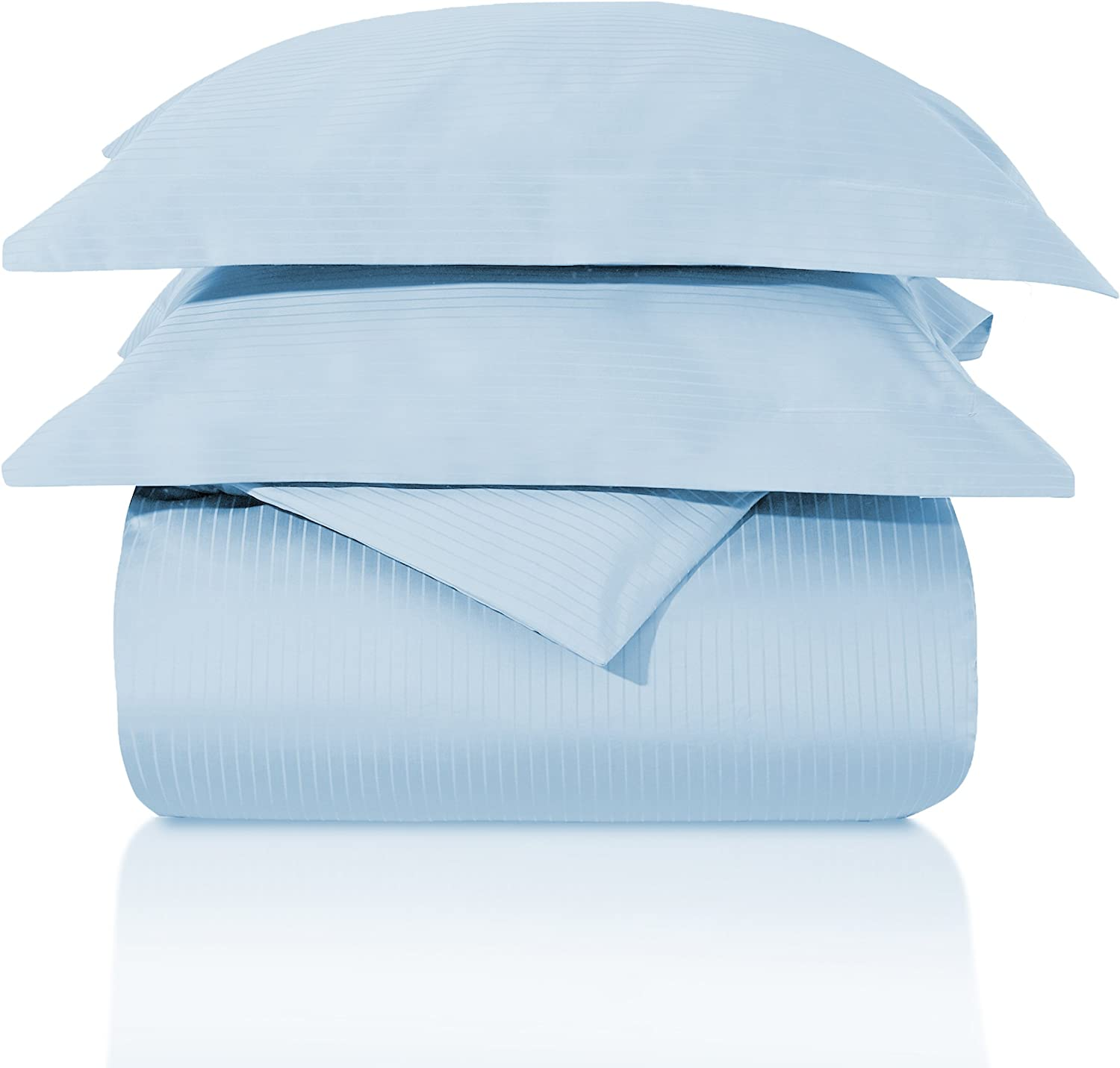 SUPERIOR Striped 1000-Thread Duvet Cover Set Egyptian Cotton K Limited price 35% OFF sale