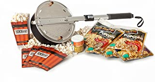 Wabash Valley Farms - Open Fire Pop Gift Set - 5 Popcorn Kits - 4 Seasoning Sampler - 4 Disposable Tubs