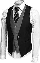 JINIDU Men's Slim Fit Suit Vest Formal Wedding Wasitcoat