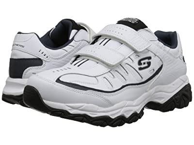 SKECHERS Afterburn Memory Fit Final Cut (White/Navy) Men