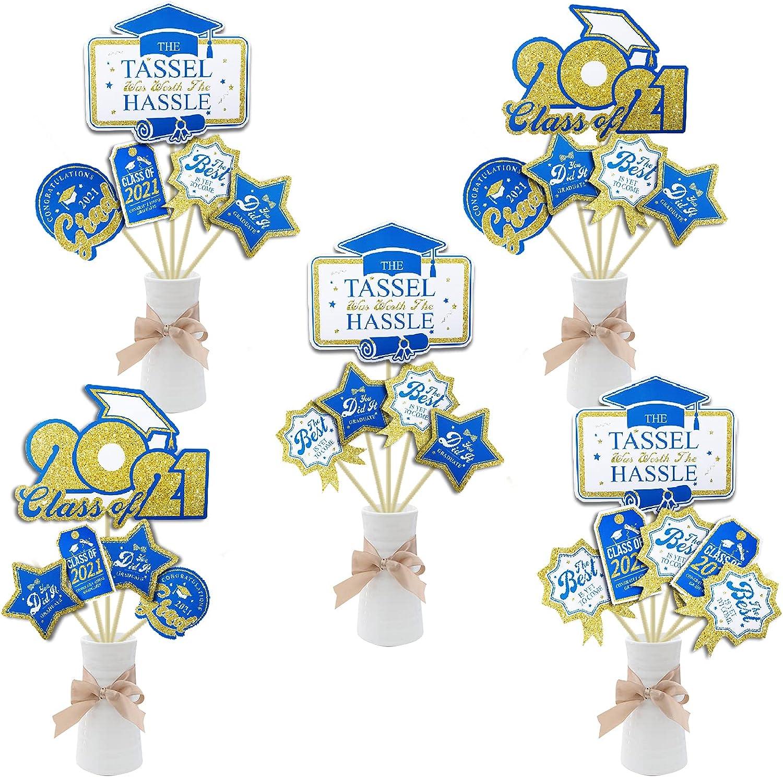 Kederewa 24Pcs Shipping included Dallas Mall Graduation Centerpiece Photo Congrats Sticks Boot