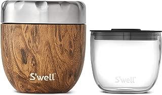 S'well 12814-B19-34120 Eats 2-IN-1 Nesting Food Bowls, 16oz, Teakwood