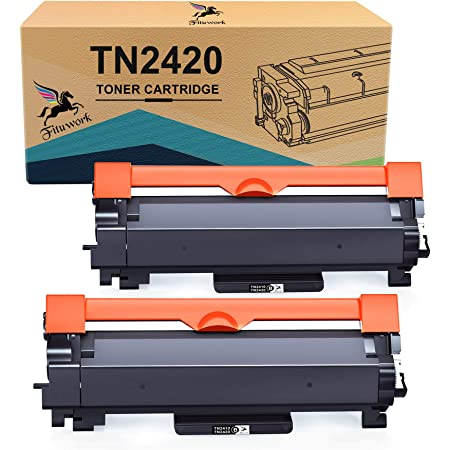 FITU WORK Cartouche de Toner Compatible pour Brother TN2420 TN2410 pour Brother MFC-L2710DW HL-L2350DW DCP-L2530DW MFC-L2710DN MFC-L2730DW MFC-L2750DW HL-2310D HL-L2370DN HL-L2375DW DCP-L2510D