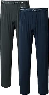 Men's 2 Pack Bamboo Rayon Long Pajamas Pants Loungewear Sleep Bottoms