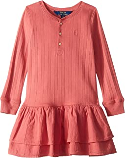 Cotton Henley Dress (Little Kids)
