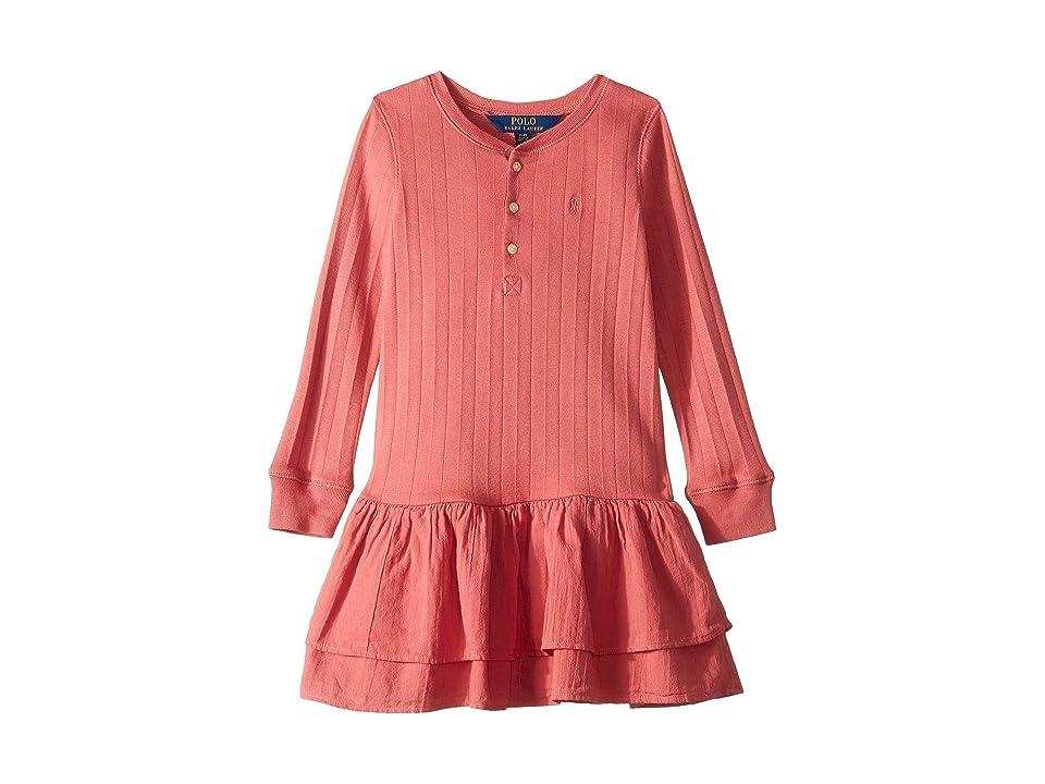 Polo Ralph Lauren Kids Cotton Henley Dress (Little Kids) (Adirondack Berry) Girl