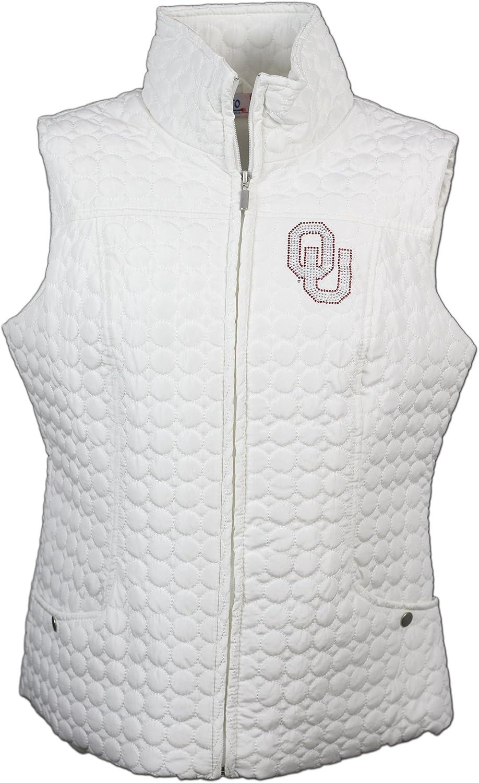 Nitro USA NCAA Damen Kreis Gesteppte Weste mit Strass & Metallic OU Logo B01IVQQ6HK Authentische Garantie     | Fierce Kaufen