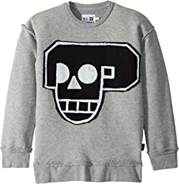 Skull Robot Patch Sweatshirt (Little Kids/Big Kids)
