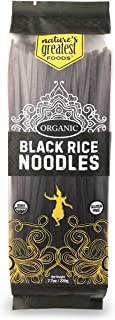 Nature's Greatest Foods, Organic Gluten-Free Black Rice Noodles, Pad Thai, Vegan, 7.7oz (Pack of 12)