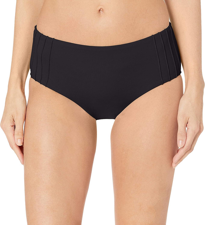 Seafolly Women's Standard Pintucked Wide Side Retro Bikini Bottom Swimsuit