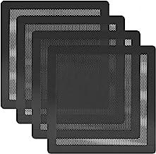 HFEIX 120MM PC Fan Dust Filter Computer Case Fan Magnetic Frame Dust Filter Fine PVC Mesh,Length 4.72 x 4.72 inches Black -4Pack