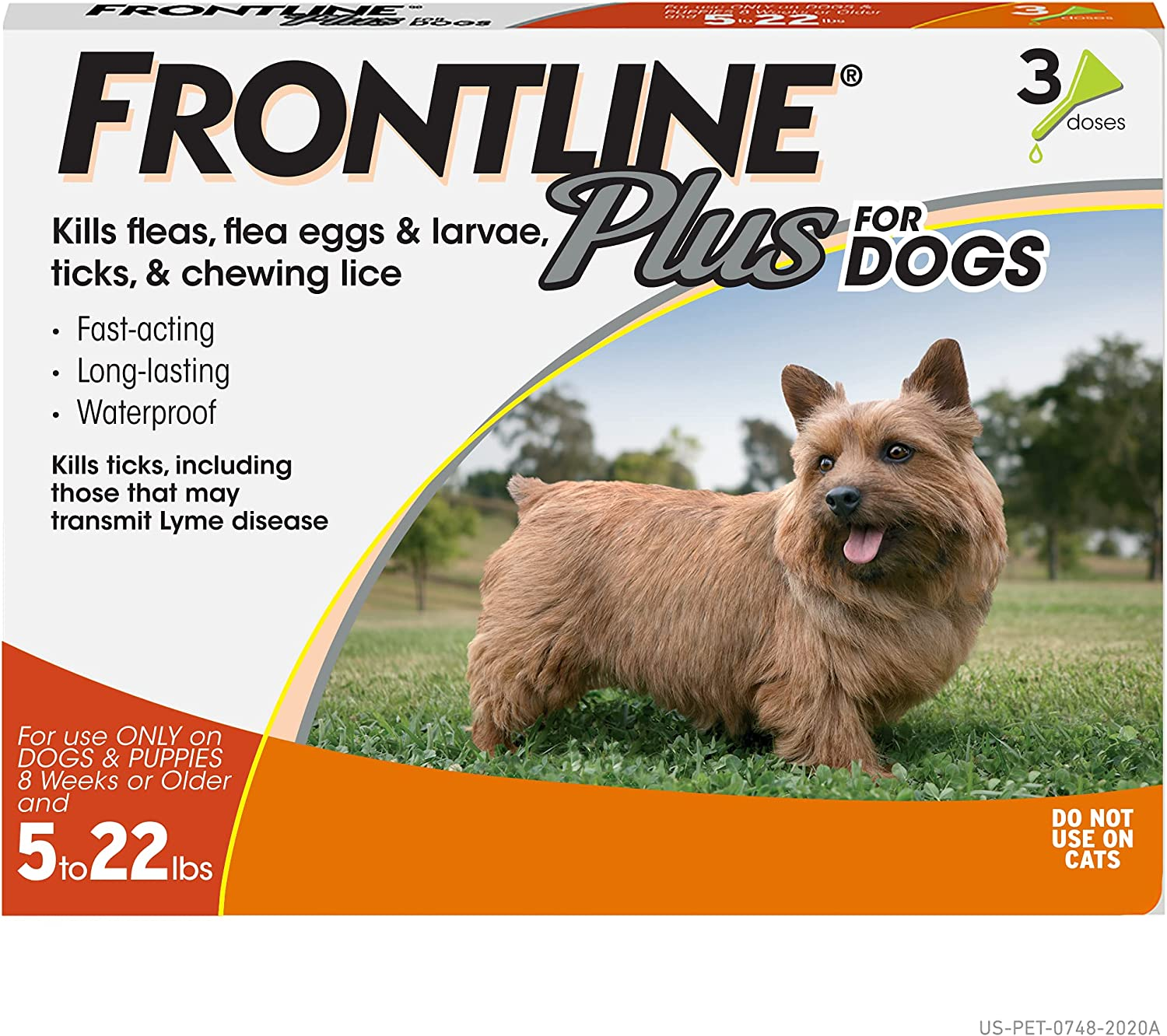 Frontline Plus Flea In Under blast sales stock and Tick Treatment Dog Small Dogs for 5-22