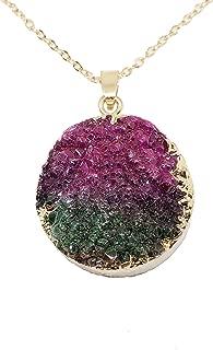 Schmidt Jewelry Rainbow Druzy Chakra Necklace for Women - Healing Chakra Pendant