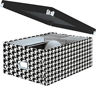 Snap-N-Store Double Wide CD Storage Box, 6.125