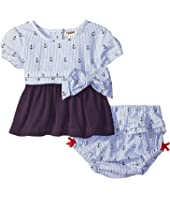 Hatley Kids - Nautical Tie Tunic & Ruffle Bloomer (Infant)