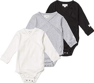 Tiny One Baby Wickelbody | Verschiedene Sets | 3er Set Basic | 2er Set Print | Unisex | Mädchen und Junge | Bio Baumwolle | GOTS | 0-4 Monate