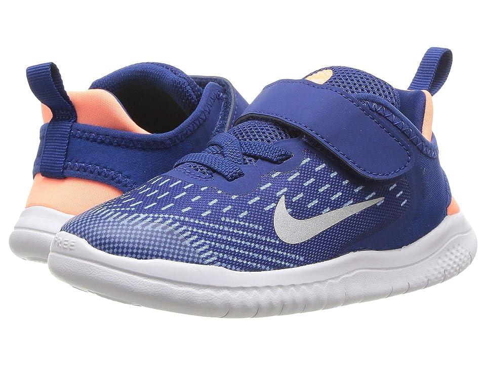 Nike Kids Free RN 2018 (Infant/Toddler) (Gym Blue/Metallic Silver/Cobalt Tint) Girls Shoes