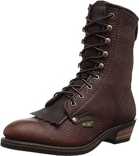 AdTec Men's Premium Leather, Oil Resistant Cowboy Boot Packer, Chestnut, 11