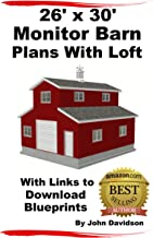 26' x 30' Monitor Barn Plans With Loft Construction Blueprints