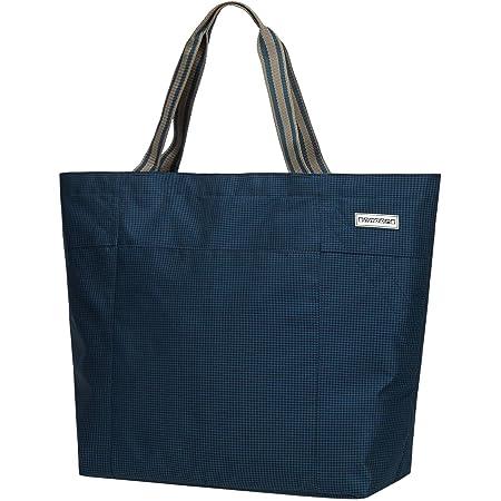 anndora XXL Shopper Blau Hahnentritt - Strandtasche 40 Liter Schultertasche Einkaufstasche