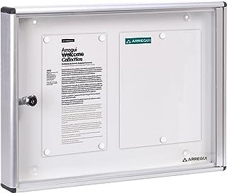 Arregui PAN42 Panel de Anuncios de aluminio y metacrilato con capacidad para 2 hojas DIN A4