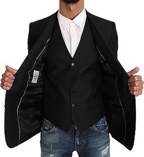 Blazer Vest 2 Piece Black Wool Martini