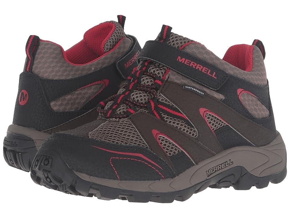 Merrell Kids Hilltop Mid Quick Close Waterproof (Little Kid) (Brown Suede/Mesh) Boys Shoes