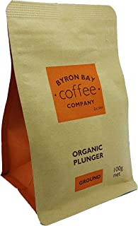 Byron Bay Coffee Company Certified Organic Plunger Ground, 100g