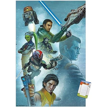 "Trends International Star Wars: Rebels - Celebration Mural Wall Poster, 14.725"" x 22.375"", Premium Poster & Mount Bundle"