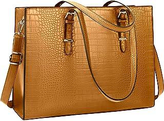 Lubardy Handtasche Damen Shopper Damen Groß Laptop Tasche 15.6 Zoll Elegant PU Leder Umhängetasche Arbeitstasche für Busin...