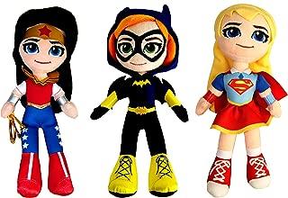 Dc Super Hero Girls. Mini Plush,Pack of 3-Super Hero Girls(Supergirl,Wonder Woman,Bathgirl) Official Licensed