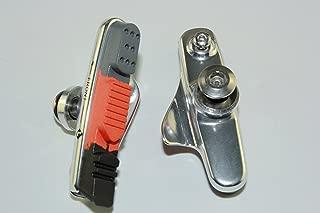KINGSTOP JIM 2 Pairs of Road Bicycle Caliper Pad Set Brake Pads Set Silver Holder for Shimano Sram Avid Tektro Caliper for Aluminum Rim use