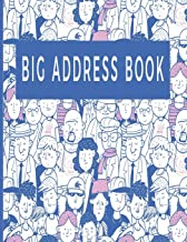 Big Address Book: Large Print with Tab Notebook Directory for Office Home Business; 150 Pages 8.5x11in;