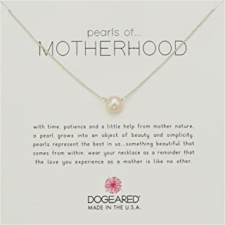 "Dogeared Pearls of Motherhood Large Button Necklace, Sterling Silver, 16"" + 2"" Extension"