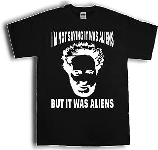 OSS Ancient Aliens Giorgio Tsoukalos I'm not saying it was aliens Shirt (Adult XXL, Black)