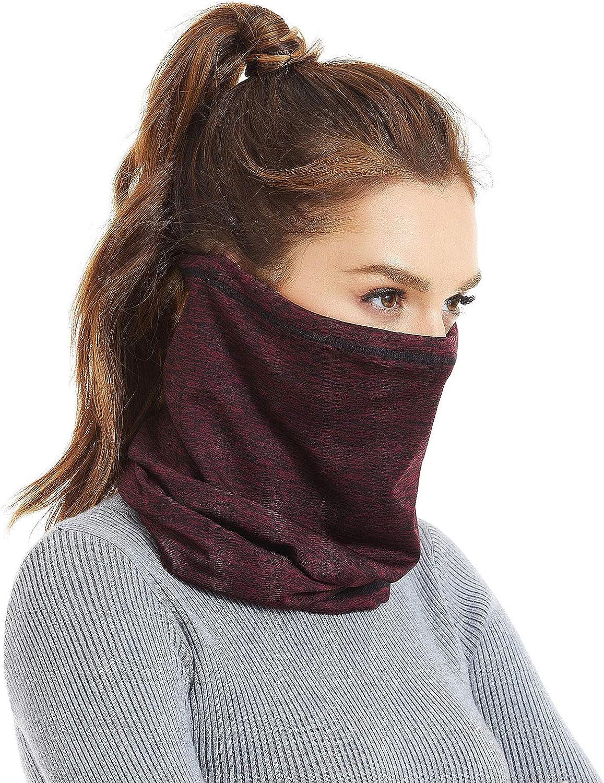 12 in 1 Multifunctional Neck Gaiter,Face Scarf Headwear for Unisex Men & Women