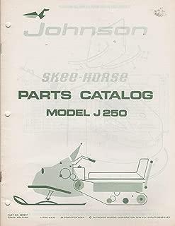 1970 JOHNSON SKEE HORSE SNOWMOBILE J 250 PARTS MANUAL P/N 405517 (639)