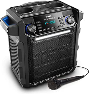 Ion Audio Pathfinder 2 High Power All-Weather Rechargeable Speaker  (Blue)(Renewed)