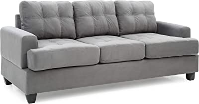 Glory Furniture Upholstered Sofa Grey Suede