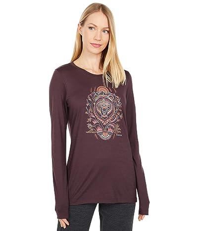 Smartwool Merino Sport 150 Autumn Sun Long Sleeve Graphic Tee (Woodsmoke) Women
