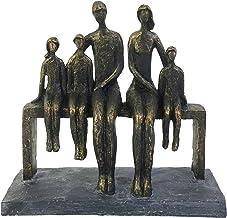 "Sagebrook Home ""Polyresin 10"""" Family Sculpture"", bronze/copper, ""10""""l x 4""""w x 10""""h"" (14884)"